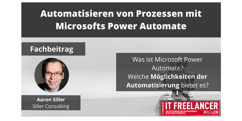 Automatisieren von manuellen Prozessen mit Microsofts Power Automate