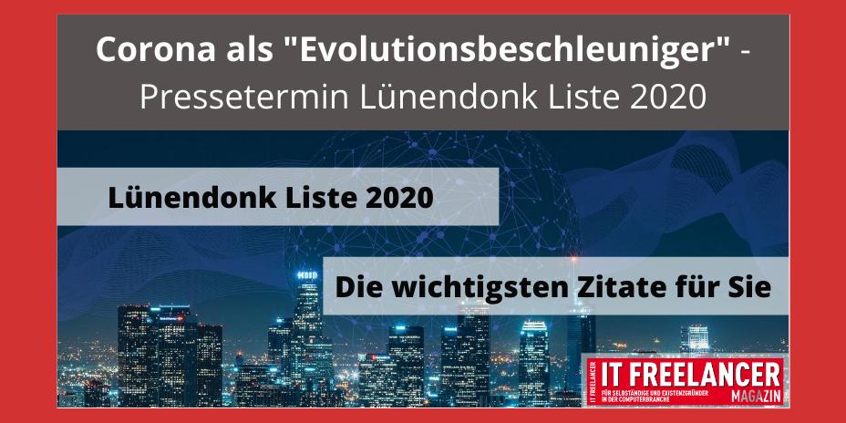 Corona als Evolutionsbeschleuniger - Pressetermin Lünendonk Liste 2020
