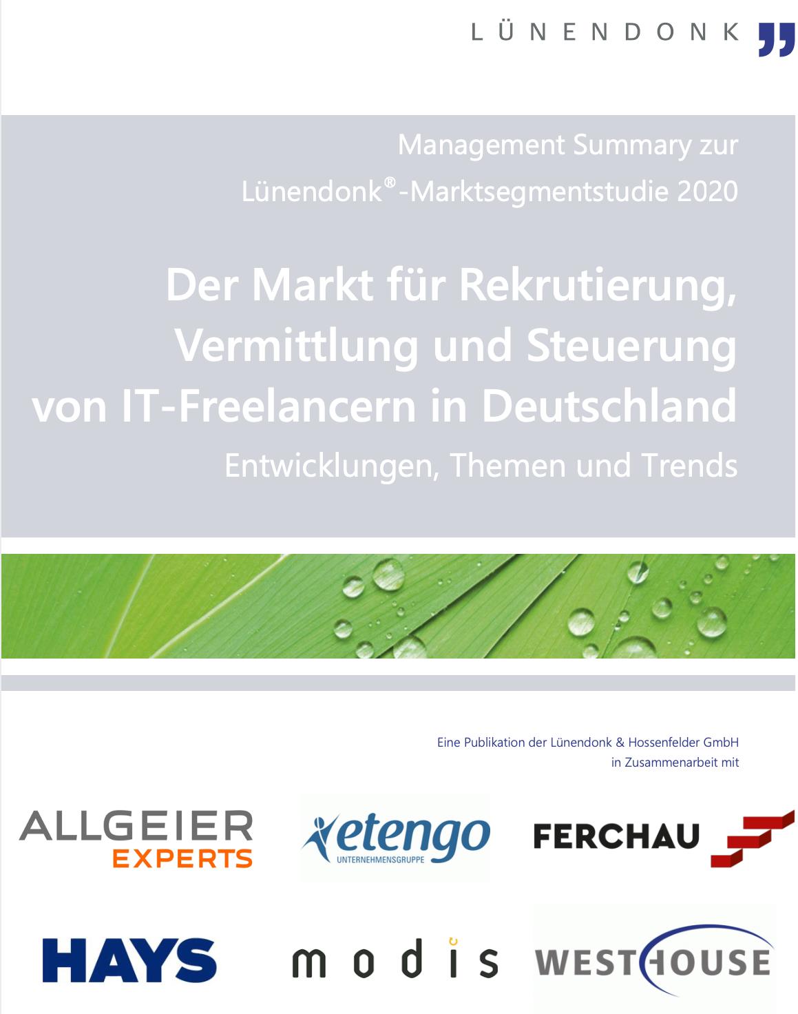 Lünendonk Marktstudie IT Freelancer 2020