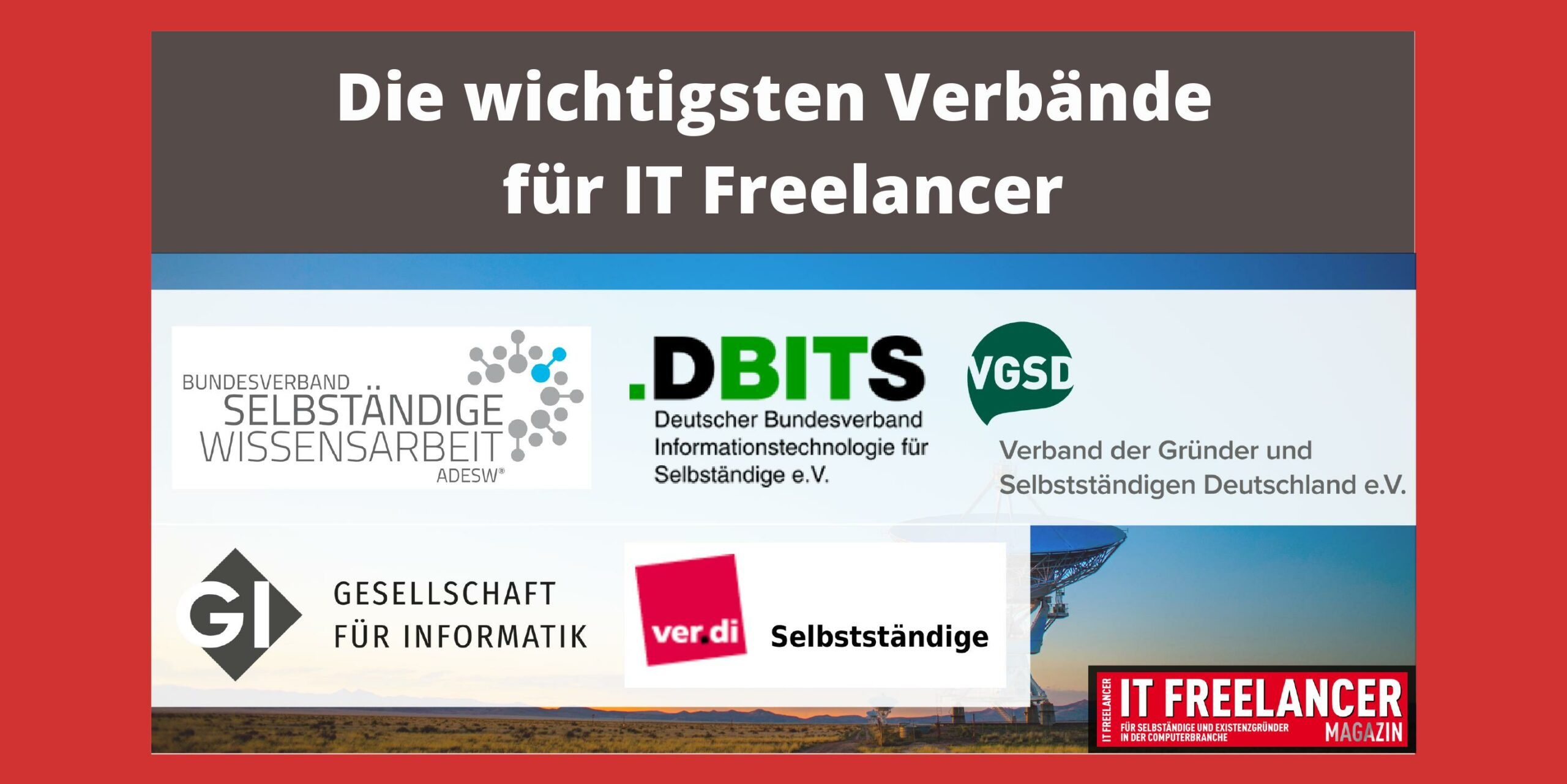 Verbände für IT Freelancer