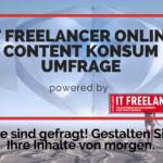 IT Freelancer Online Content Konsum Umfrage