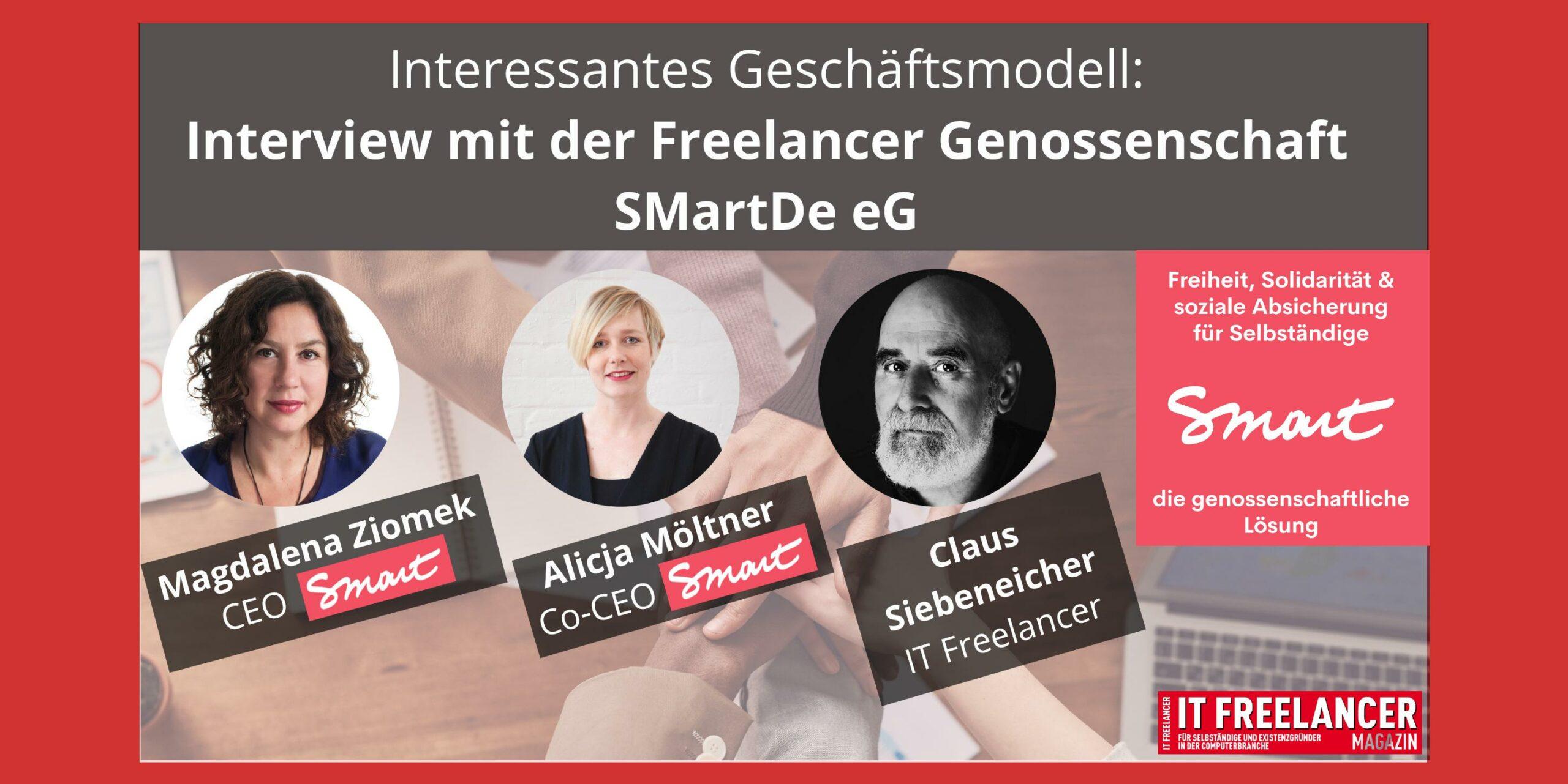 Interview mit Magdalena Zimek, Alicja Möltner, Claus Siebeneicher von der SMartDe eG Freelancer Genossenschaft