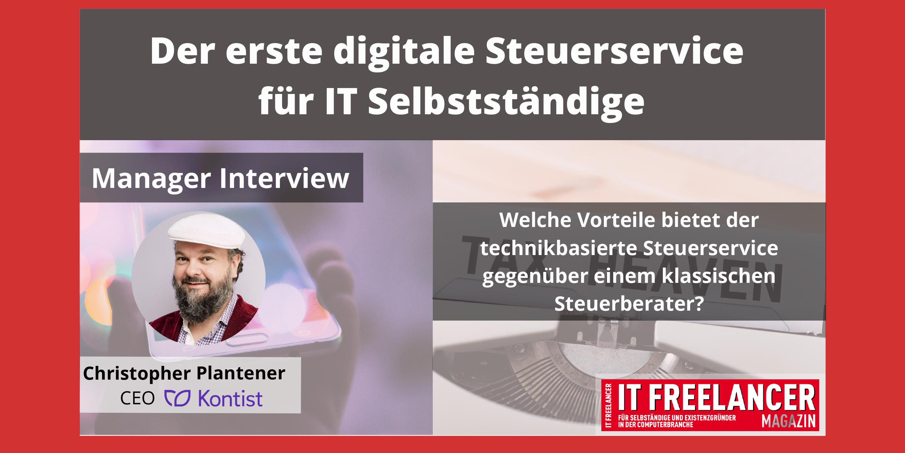 Manager Interview mit Christoper Plantener von Kontist