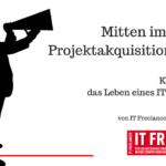 Kolumne über das Leben eines IT Freelancers – Teil 3 – Mitten im Projektakquisitionsstress