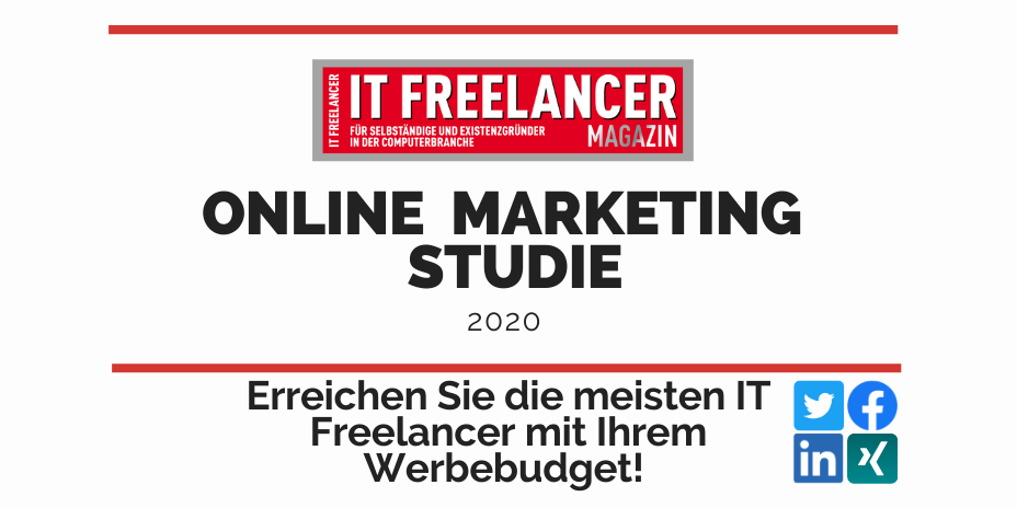 Online Marketing Studie IT Freelancer Magazin