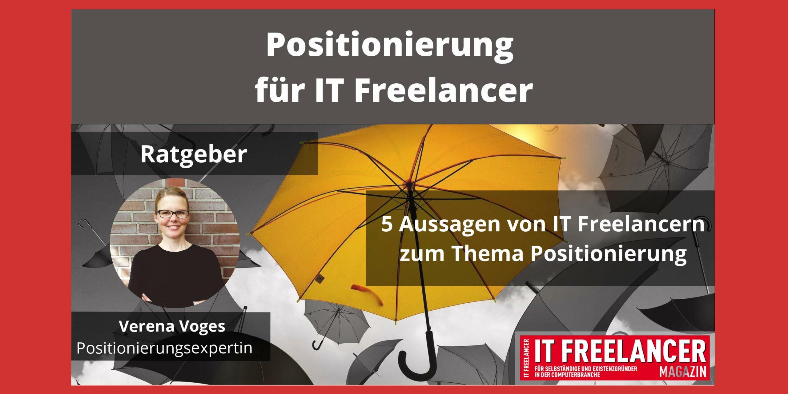 Positionierung für IT Freelancer