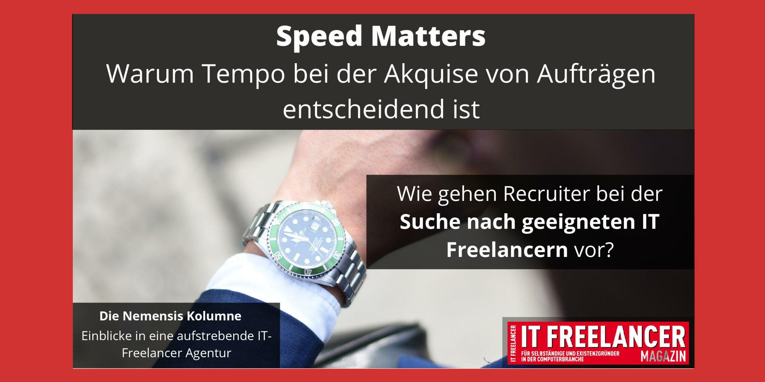 Speed Matters- Warum Tempo bei der Akquise von Aufträgen entscheident ist.