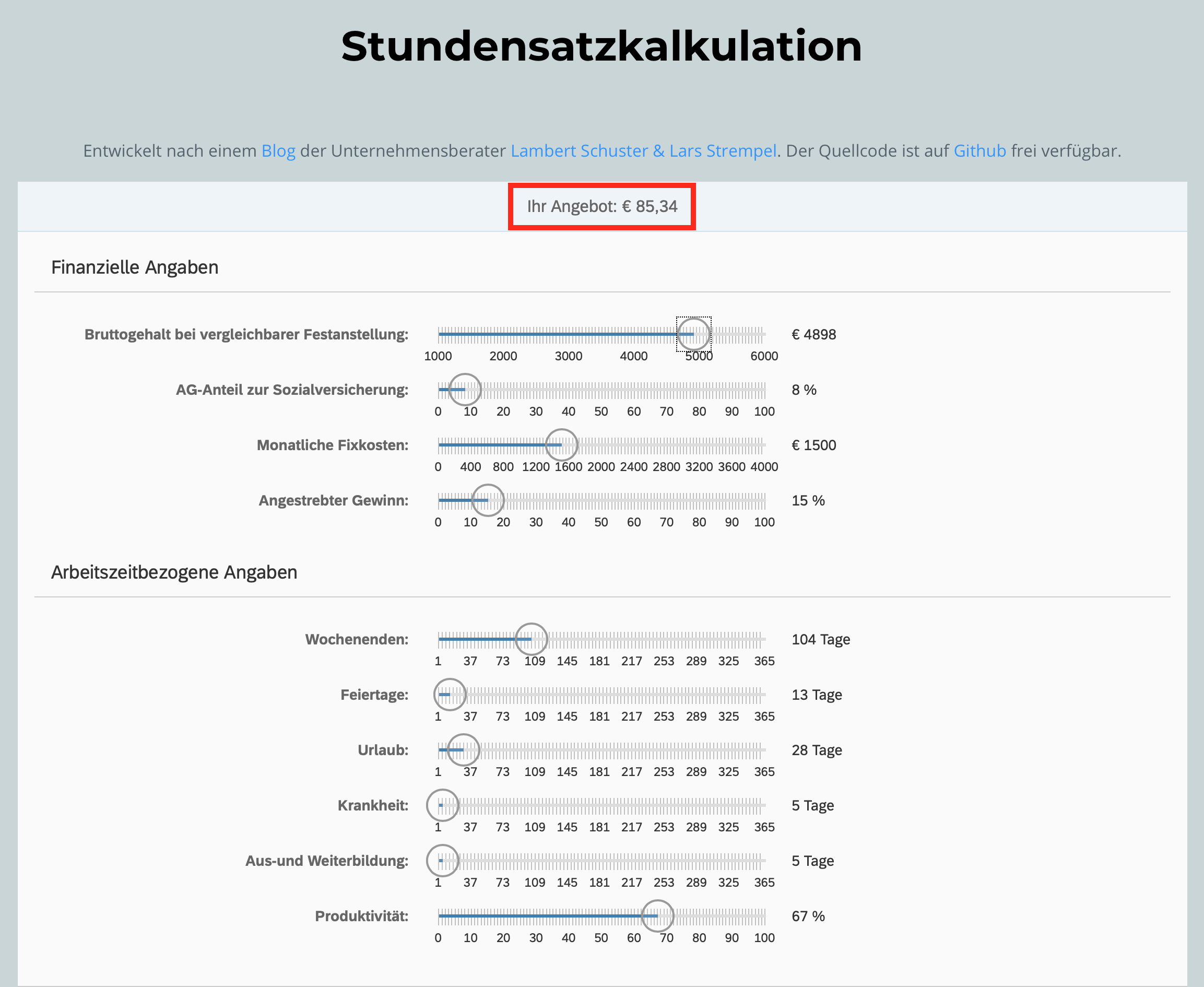 Stundensatzkalkulation IT Freelancer