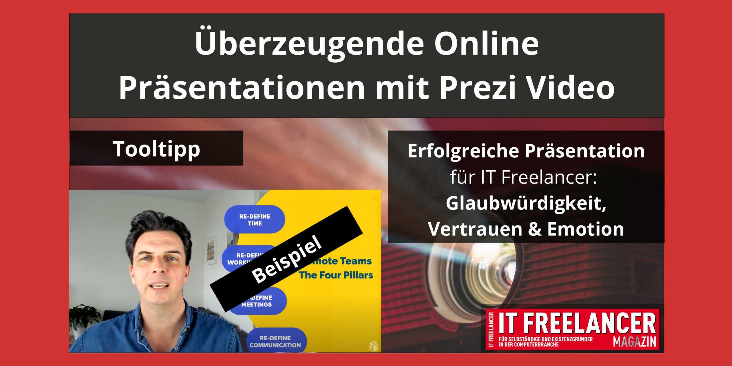 Überzeugende Online Präsentationen mit Prezi Video