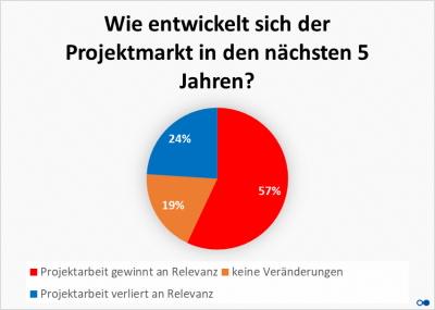 Kreisdiagramm Prognose Projektmarkt